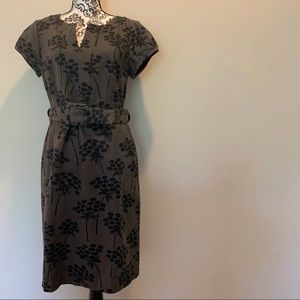 Boden Notch Neck Belted Floral Dress Size US 8